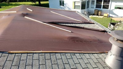 Before and after roof repair in Inverness
